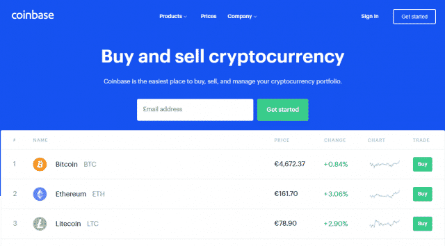 وبسایت اکسچنج Coinbase.com